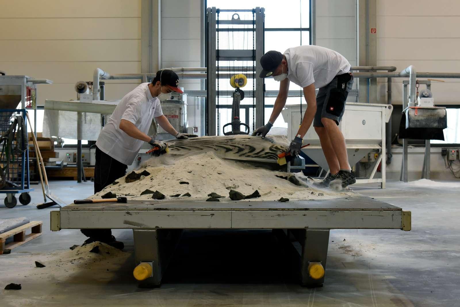 В Швейцарской высшей технической школе Цюриха создают легкий бетонный потолок с использованием 3D-песочной печати