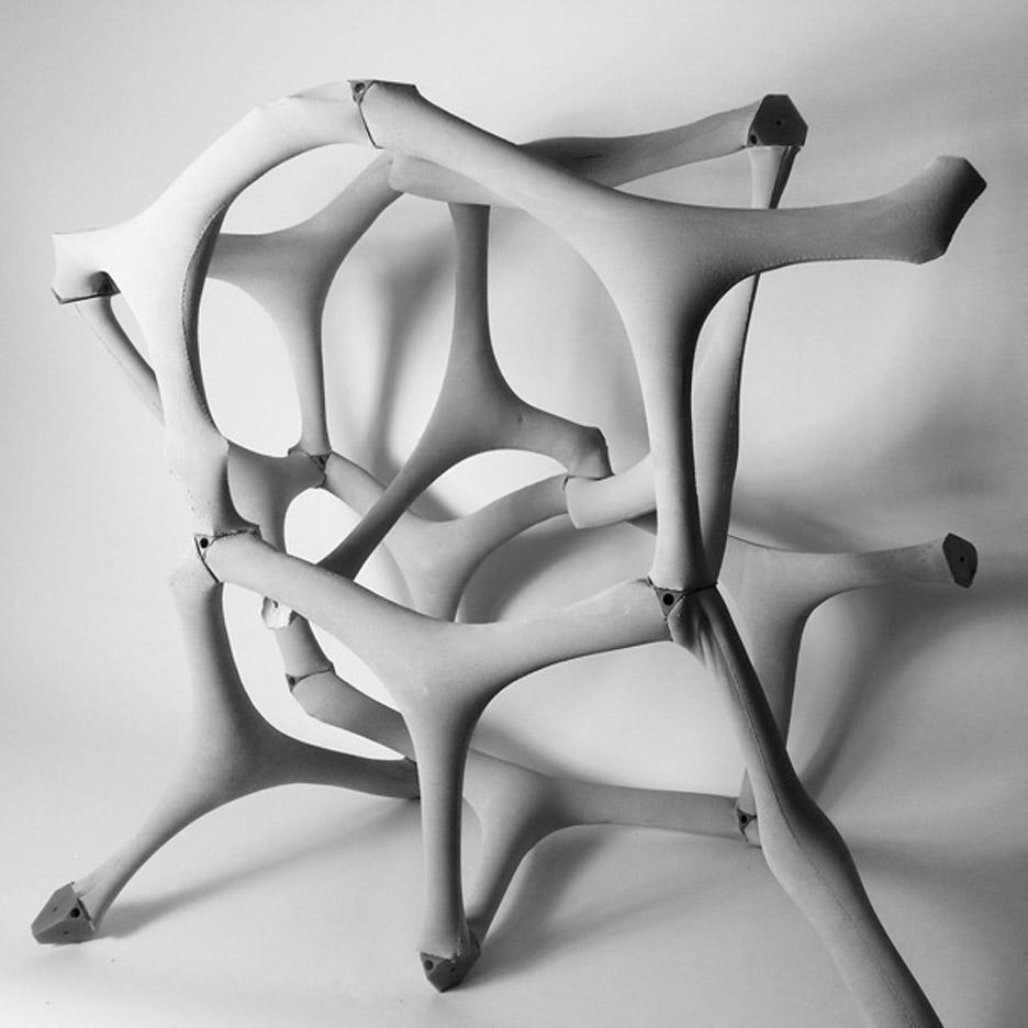 «Бетон, отлитый в ткани - метод строительства будущего», говорят дизайнеры