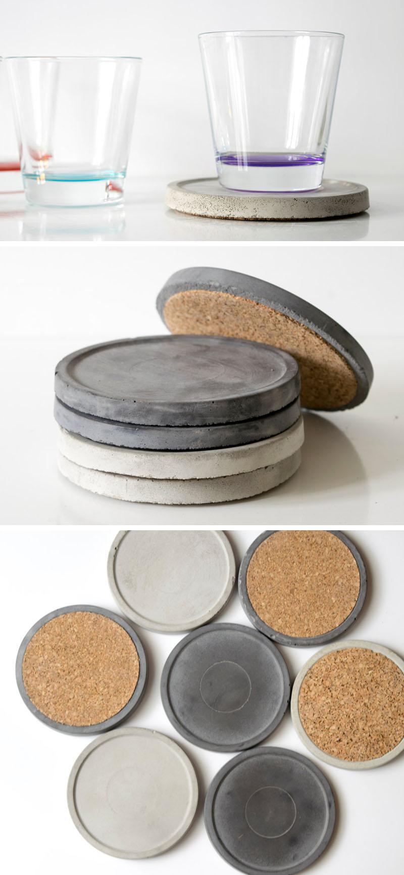 7 комплектов бетонных подставок, которые будут защищать ваш стол, и при этом стильно выглядеть